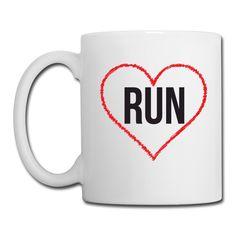 I Love Running White Coffee Mug https://shop.spreadshirt.com/CoffeeMugs/white+color+coffee+mug+run-A106692431