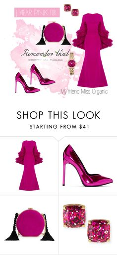 """""""For Miss Organic 👭"""" by hackneygirl ❤ liked on Polyvore featuring Christian Siriano, Yves Saint Laurent, Alessandra Rich, Kate Spade, Michael Kors and IWearPinkFor"""