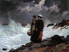Winslow Homer - Watching the Breakers - 1891