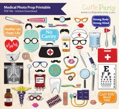 Medical Themed Photo Booth Prop Medical Themed Party by Cutieparty