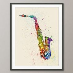 Art print poster (frame not included) Multicoloured version