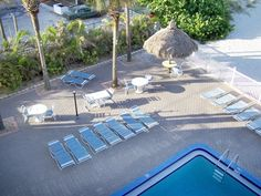 View of pool from balcony of 3 bedroom condo