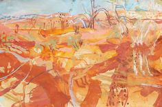 Luke Sciberras – West of the Darling, Works on paper Abstract Landscape Painting, Australian Artists, Art Painting, Amazing Paintings, Australian Art, Abstract Painting, Painting, Art, Abstract