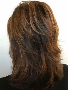 60 Most Universal Modern Shag Haircut Solutions - Medium Copper Brown Shag for Thick Hair - Modern Shag Haircut, Long Shag Haircut, Haircut For Thick Hair, Thin Hair, Shaggy Hair, Medium Layered Haircuts, Medium Hair Cuts, Medium Hair Styles, Curly Hair Styles
