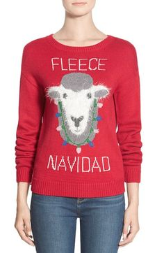 Free shipping and returns on BP. 'Fleece Navidad' Graphic Christmas Sweater at Nordstrom.com. The fuzzy sheep fronting this graphic knit pullover is all decked out and ready to join you on the holiday party circuit.