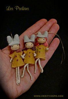 felt pixie dolls