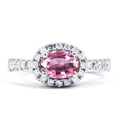 Mai 18ct White Gold Pink Sapphire and Diamond by DiamondBoutiqueUK