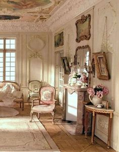 Home Interior Colour Marie Antoinette& Playhouse French Interior, Classic Interior, French Decor, French Country Decorating, Interior Design, Scandinavian Interior, French Country Bedrooms, French Country Cottage, French Country Style
