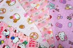 Hello Kitty fabric Scrap by beautifulwork on Etsy, $7.50