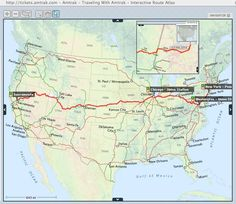 AmTrack Routes Map