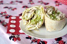Chicken Wraps with Avocado Garlic Sauce