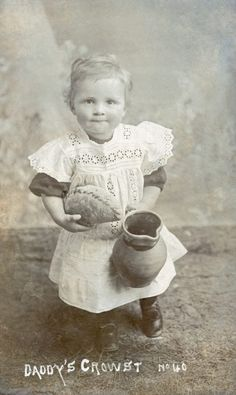 DADDY'S CROWST | Cornwall: Most likely a boy, dressed in the period fashion until aged about 3.     ✫ღ⊰n Cornish Pasties, Dartmoor, Period, Daddy, British, Age, Painting, Food, Fashion
