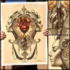 Artwork by Tattoo Artist Justin Hartman