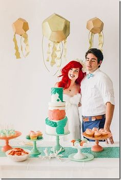Little Mermaid Themed Wedding- Taking Your Themed Wedding To The Next Level -   I am all about a good theme party (people fly in from around the continent for my Oscar party) and even I am super impressed by this mock-wedding....