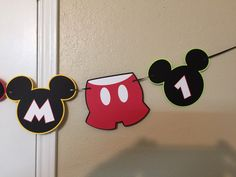 I AM 1  Mickey Mouse Themed Wall Banner by TotHeads on Etsy