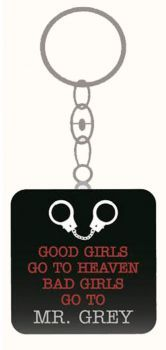 Product Description This item is a must for fans of 50 shades of grey. A novelty key ring with the slogan 'Good Girls Go to Heav. Grey Mugs, 50 Shades Of Grey, Fifty Shades, Grey Doors, Mr Grey, Stocking Fillers, Bad Girls, Christian Grey, Best Christmas Gifts