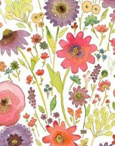 watercolor flowers by C.K.