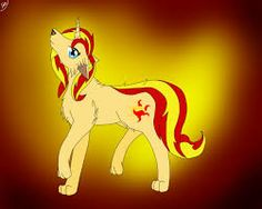 mlp sunset shimmer as a wolf