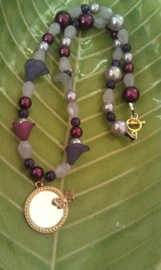 little girl beaded necklace with butterfly by AdelaidsCreations, $8.00