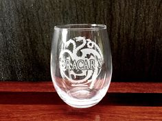 Look what we just made! Elegant Wine Glas... Order yours today: http://integritybottles.com/products/elegant-wine-glass-with-game-of-thrones-themed-dracarys-design-hand-etched?utm_campaign=social_autopilot&utm_source=pin&utm_medium=pin #integritybottles