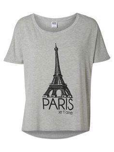 Front Printed Short sleeved blouse, Light Grey Melange, main Paris T Shirt, Holiday Fashion, Printed Shorts, Short Sleeve Blouse, Mens Tops, How To Wear, Shopping, Grey, Fun Stuff