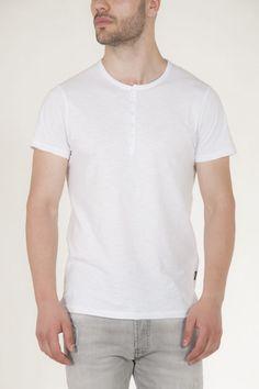 Κοντομάνικη μπλούζα λευκή με κουμπιά στην λαιμολοψη αντρικό sorbino