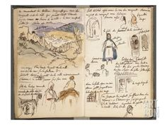 Eugène Delacroix - viaggio in Marocco Artist Journal, Artist Sketchbook, Sketchbook Pages, Sketch Journal, Eugène Delacroix, Romanticism Artists, Travel Sketchbook, Commonplace Book, Art Diary
