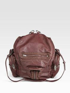 Similar products also available. Designer Backpacks, Alexander Wang, Travel Backpack, Leather Backpack, Burgundy, Swag, Handbags, Purses, Brown