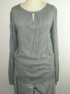 #GerryWeber #GW #bloes grijs - witte stippen - lange mouwen