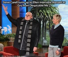Steve Carell as Gru… love this