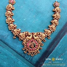Gold Necklace Simple, Short Necklace, Necklace Set, Small Necklace, Long Necklaces, Gold Temple Jewellery, Saree Jewellery, Diamond Jewellery, Antique Jewellery Designs