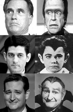 What a riot...This explains it all...I think Herman Munster is a hell of a lot more handsome!! (than Mitt the Nitt)