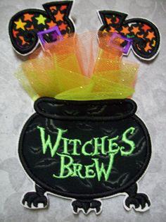 Iron On Applique - Witches Brew