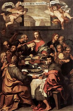 The Last Supper - Crespi Never thought the table might be round. More intimate.