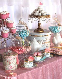 Tea Party {Dessert Display} EyeCandyCelebrations.com
