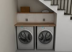 Practical Home laundry room design ideas 2018 Laundry room decor Small laundry room ideas Laundry room makeover Laundry room cabinets Laundry room shelves Laundry closet ideas Pedestals Stairs Shape Renters Boiler Ikea Laundry Room, Tiny Laundry Rooms, Basement Laundry, Laundry Closet, Laundry Room Storage, Basement Stairs, Small Laundry, Laundry Room Design, Cupboard Storage