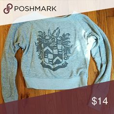 BDG crop sweatshirt. Soft and cozy BDG sweatshirt with collegiate/Harry Potter-esque emblem. Super cute! Good condition. Urban Outfitters Tops Sweatshirts & Hoodies