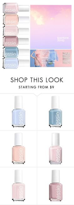 """Pantone Nail Colors 2016"" by beautyandstylefox ❤ liked on Polyvore featuring beauty and Essie"