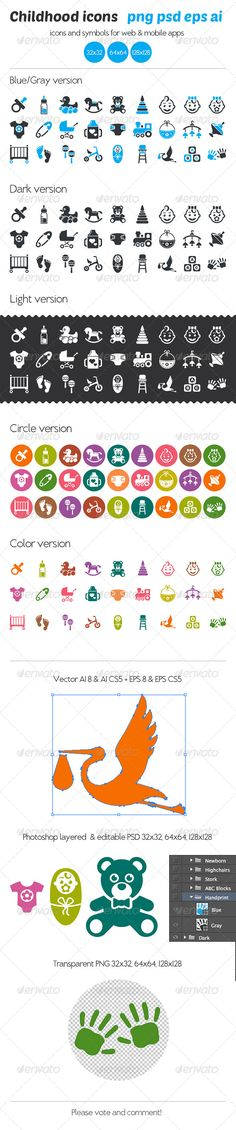 3 Highly organized layers PSD files AI files for Illustrator 8 and Ilustrator EPS files for Illustrator 8 and Ilustrator editable, customizable AI, EPS, and PSD Transparent PNG for each ve… Ui Elements, Design Elements, Digital Jobs, Color Photoshop, Illustrator Cs5, Best Icons, Information Graphics, Free Prints, Cute Icons