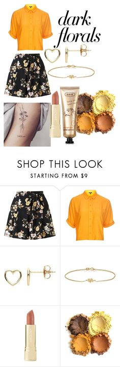 """""""deep orange floral"""" by luckyy-14 ❤ liked on Polyvore featuring Miss Selfridge, Topshop, Estella Bartlett, Jennifer Meyer Jewelry and Axiology"""
