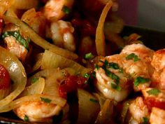 Shrimp fra diavolo from Giada de Laurentis: one of our favorite recipes.  We are making this for dinner tonight with polenta.  I'm going to eat spicy shrimp and watch the Oscars. :)