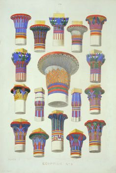 Owen Jones, Plate IV - Egyptian Ornament No.3 from the series Grammar of Ornament, 19th century.