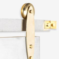 Gold Plated Modern Industrial Sliding Barn Door by TheWhiteShanty