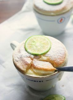 lime and coconut soufflé