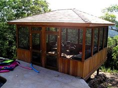 instead of attaching screened-in room to house, build on patio as a stand-alone!