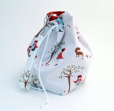 Little Red Riding Hood Everything-But-the-Knitting Sock Bag by julipbags on Etsy