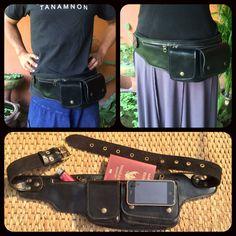 Leather Pocket Belt / Utility Belt / Hip Bag / Fanny Pack - The Explorer