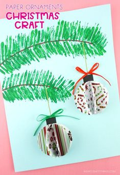 Kid Crafts This beautiful paper ornaments craft project is simple for kids to make and it makes a stunning Christmas decoration. Fun Christmas craft for kids and adults! Christmas Art Projects, Christmas Decorations For Kids, Paper Christmas Ornaments, Christmas Crafts For Adults, 3d Christmas, Christmas Ornament Crafts, Holiday Crafts, Craft Projects, Kids Crafts