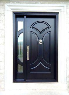 Custom Wood Doors made in Canada by Amberwood Doors. Home Door Design, Door And Window Design, Door Gate Design, Door Design Interior, Wooden Front Door Design, Main Entrance Door Design, Wooden Front Doors, Door Entry, Modern Wooden Doors