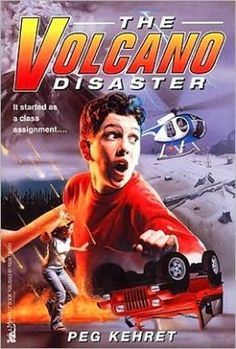 """""""The Volcano Disaster"""" by Peg Kehret. This book starts of with Warren and Betsey who were supposed to be working on a project for school regarding Mount St. Helens. However, Warren was too busy playing around with his grandfather's latest invention, the """"Instant Commuter."""" He teleported back to the day when Mount St. Helens erupted and was unable to get back home! CCSS.ELA-LITERACY.RL.4.1, RL.4.2, RL.4.3, and RL.4.10 could be used. Bianca B."""